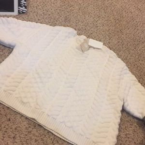 Hm sweater cable knit white brand new